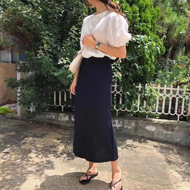 Chân ngắn hay dài mặc lên đều cao ráo tức thì với 15 công thức mix đồ thú vị từ chân váy midi - Ảnh 11.