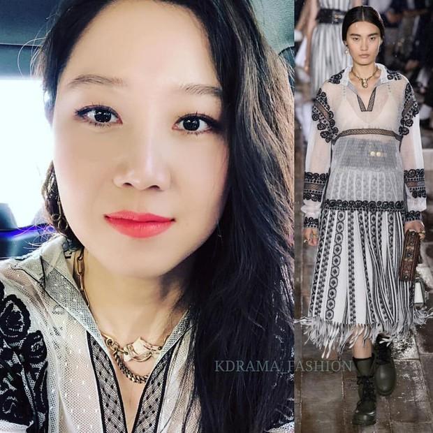 Angela Baby mặc váy đen mà nổi bần bật, Gong Hyo Jin diện nguyên set đồ người mẫu dự show Dior - Ảnh 6.