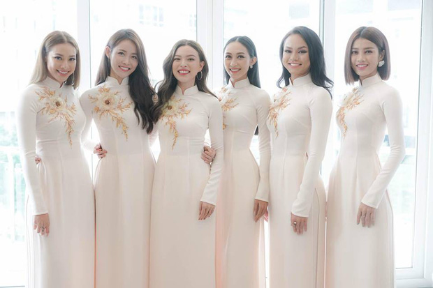 Đám hỏi Lan Khuê, dàn phù dâu toàn các chân dài The Face Việt Nam - Ảnh 2.