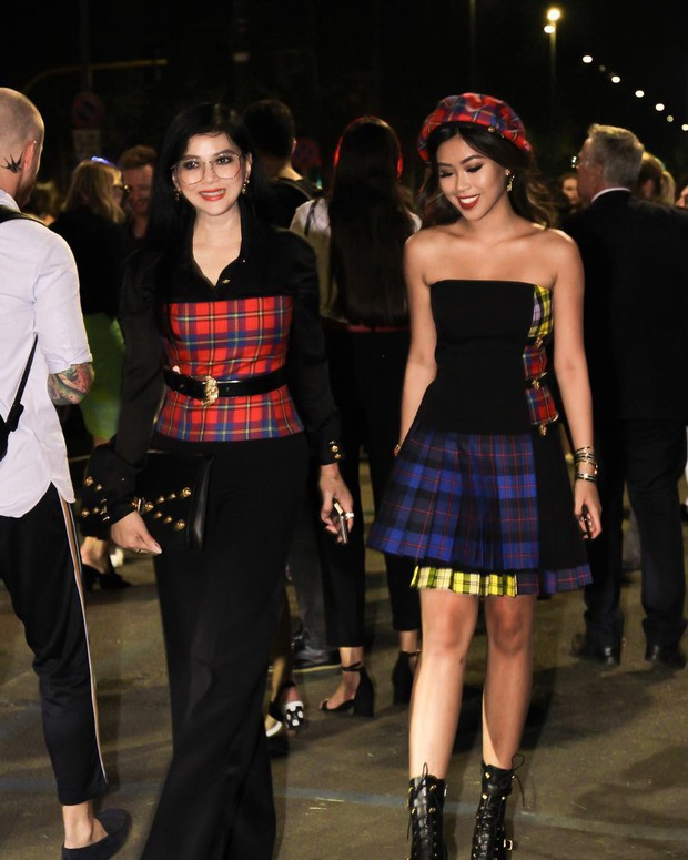 Thảo Tiên - Đệ nhất Rich Kid Việt cùng mẹ lại tiếp tục chinh phục Milan Fashion Week, điểm đến đầu tiên là show Versace - Ảnh 2.