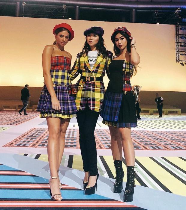 Thảo Tiên - Đệ nhất Rich Kid Việt cùng mẹ lại tiếp tục chinh phục Milan Fashion Week, điểm đến đầu tiên là show Versace - Ảnh 3.