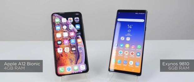 To hẳn ra như vậy nhưng thời lượng pin của iPhone XS Max vẫn kém Galaxy Note9 tới 10% - Ảnh 1.