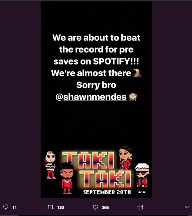 Bài hát mới của 2 cái tên nóng nhất mạng xã hội Selena Gomez và Cardi B sắp phá kỉ lục này dù chưa ra mắt - Ảnh 4.