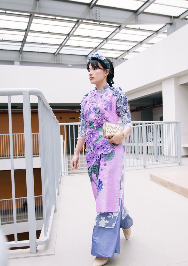 Ngắm bộ sưu tập áo dài cực chất trong đồ án tốt nghiệp của sinh viên mà cứ ngỡ lạc vào Vietnam International Fashion Week - Ảnh 4.