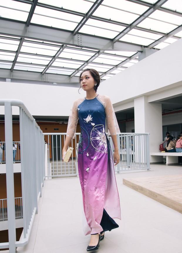Ngắm bộ sưu tập áo dài cực chất trong đồ án tốt nghiệp của sinh viên mà cứ ngỡ lạc vào Vietnam International Fashion Week - Ảnh 8.