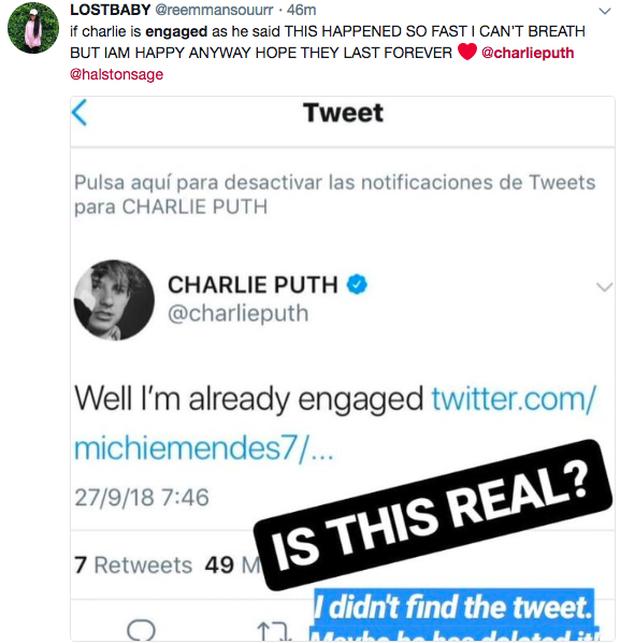 Charlie Puth thông báo đính hôn trên Twitter khiến dân tình hoang mang - Ảnh 1.