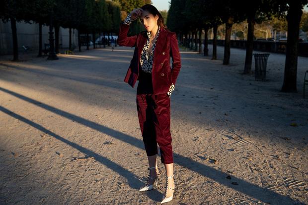 Kỳ Duyên khoe street style chất lừ trước thềm Paris Fashion Week - ảnh 6