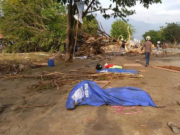 Hiện trường tan hoang sau trận động đất, sóng thần ở Indonesia - Ảnh 3.