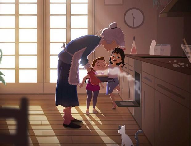 Bộ tranh trong trẻo định nghĩa về tuổi thơ khiến ai cũng muốn bé lại thêm lần nữa - Ảnh 1.