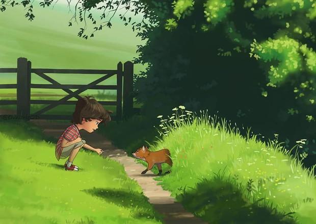 Bộ tranh trong trẻo định nghĩa về tuổi thơ khiến ai cũng muốn bé lại thêm lần nữa - Ảnh 3.