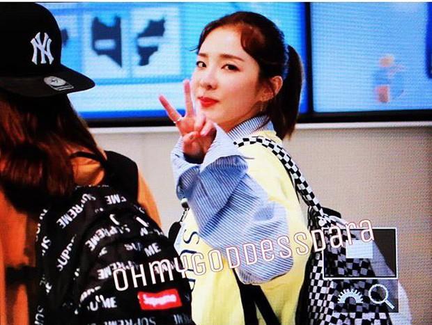 Dara, Hyomin cùng sang Việt Nam vào sáng nay nhưng gặp trục trặc, Sulli đẹp đỉnh cao bên chân dài Soyu tại sân bay - Ảnh 8.