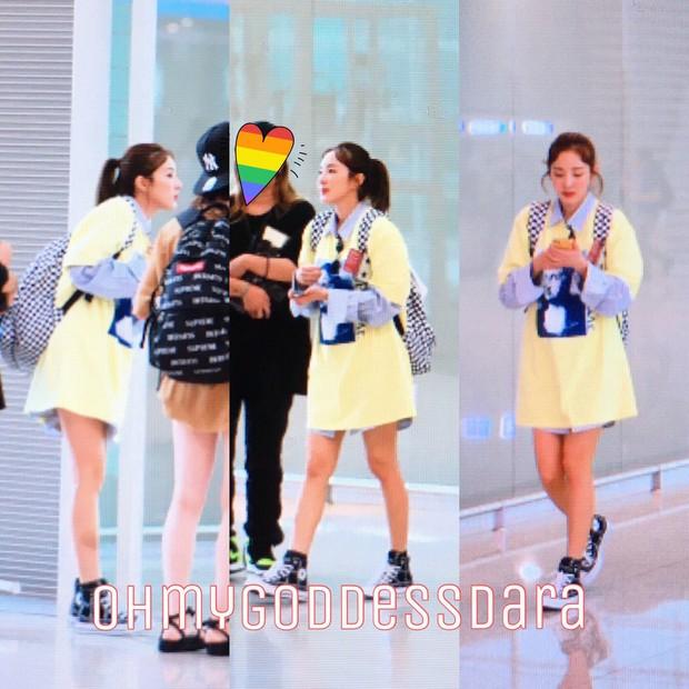 Dara, Hyomin cùng sang Việt Nam vào sáng nay nhưng gặp trục trặc, Sulli đẹp đỉnh cao bên chân dài Soyu tại sân bay - Ảnh 7.