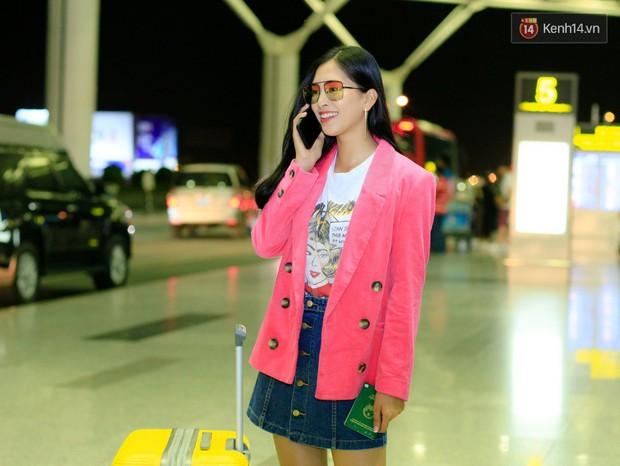 Hoa hậu Tiểu Vy rạng rỡ tại sân bay trước khi lên đường sang Paris dự sự kiện ra mắt ô tô VINFAST - Ảnh 8.