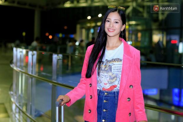 Hoa hậu Tiểu Vy rạng rỡ tại sân bay trước khi lên đường sang Paris dự sự kiện ra mắt ô tô VINFAST - Ảnh 1.