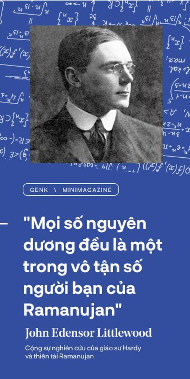 Thiên tài toán học Srinivasa Ramanujan, người đàn ông biết đếm tới vô tận - Ảnh 14.