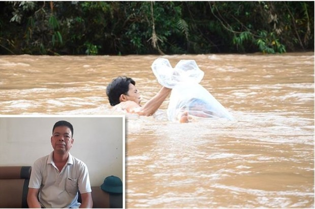 Nặng lòng tâm sự của thầy giáo 30 năm cắm bản, nơi học sinh chui nilon vượt suối đến trường - Ảnh 1.