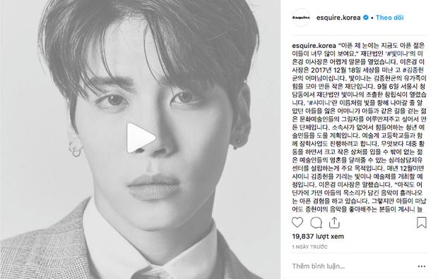 10 tháng kể từ vụ Jonghyun tự tử, gia đình anh đã có hành động gây xôn xao và được cả tạp chí danh tiếng tôn vinh - Ảnh 1.