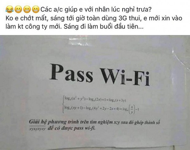 Những pass wifi siêu khó nhằn bằng Toán học khiến dân tình thà tốn tiền dùng 3G còn hơn ngồi giải - Ảnh 2.