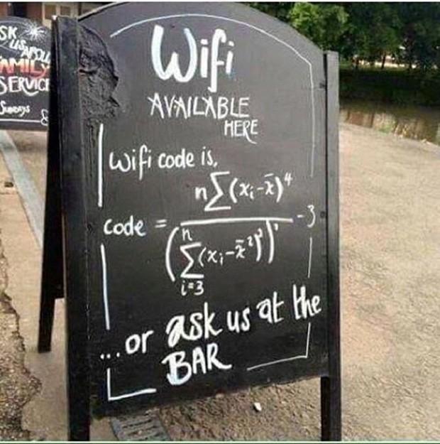 Những pass wifi siêu khó nhằn bằng Toán học khiến dân tình thà tốn tiền dùng 3G còn hơn ngồi giải - Ảnh 5.