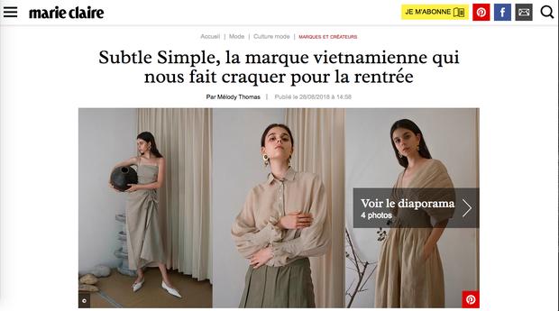 Lần đầu tiên có một local brand của Việt Nam được khen nức lời trên Marie Claire Pháp - Ảnh 1.