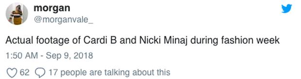 Loạt clip chế và bình luận vui đừng hỏi về vụ Cardi B đánh nhau tung giời với Nicki Minaj giữa sự kiện - Ảnh 13.