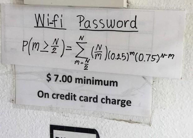 Những pass wifi siêu khó nhằn bằng Toán học khiến dân tình thà tốn tiền dùng 3G còn hơn ngồi giải - Ảnh 1.