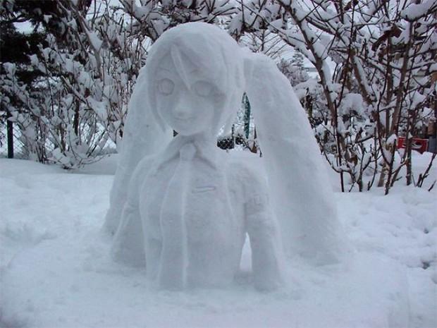 Tuyết rơi dày kỷ lục ở Nhật Bản, người dân đã vô tình tạc nên những bức tượng đẹp tới không ngờ - Ảnh 25.