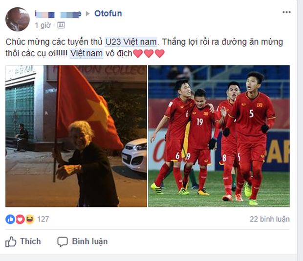 Dân mạng không ngớt lời chúc mừng chiến thắng lịch sử của U23 Việt Nam - Ảnh 5.
