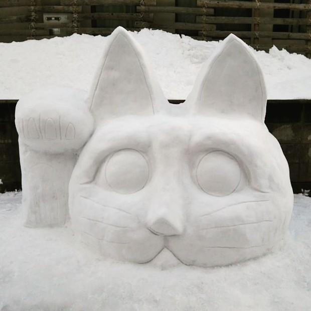 Tuyết rơi dày kỷ lục ở Nhật Bản, người dân đã vô tình tạc nên những bức tượng đẹp tới không ngờ - Ảnh 19.