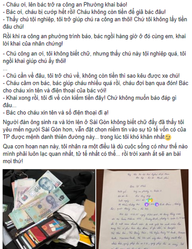 Bị giật túi xách ở Sài Gòn nhưng chàng trai 9x Hà Nội lại may mắn thấy được sự tử tế của những người dưng - Ảnh 1.
