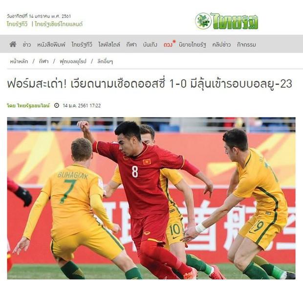 Báo Thái sốc, khen U23 Việt Nam là thể diện của ASEAN - Ảnh 1.