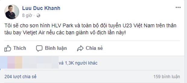 Vietjet Air sẽ sơn hình U23 Việt Nam và HLV Park lên máy bay nếu đội tuyển vô địch? - Ảnh 1.