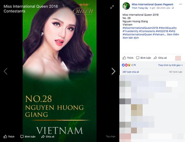 Hoa hậu Chuyển giới Quốc tế vừa khởi động, Hương Giang đã được ủng hộ nồng nhiệt với lượng bình chọn áp đảo - Ảnh 3.
