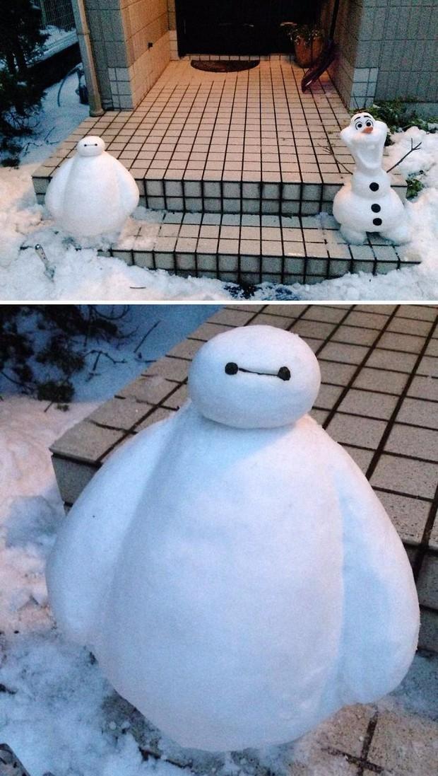 Tuyết rơi dày kỷ lục ở Nhật Bản, người dân đã vô tình tạc nên những bức tượng đẹp tới không ngờ - Ảnh 11.
