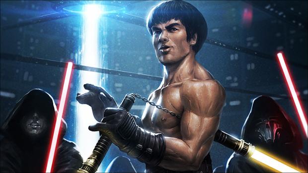 Xem video ghép Lý Tiểu Long múa côn nhị khúc Lightsaber ảo tung chảo hơn cả phim StarWars - Ảnh 1.