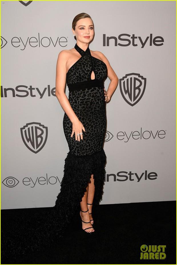 Miranda Kerr bụng bầu vượt mặt vẫn đẹp lộng lẫy, đọ sắc với dàn sao tại tiệc hậu Quả Cầu Vàng - Ảnh 5.