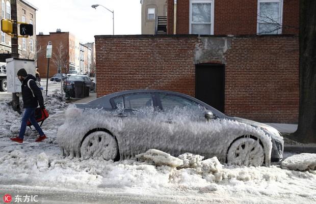 Nước Mỹ giảm nhiệt lạnh hơn sao Hỏa: Những hình ảnh đáng sợ về mùa đông nước Mỹ cận kề ngày đón bom bão tuyết - Ảnh 3.