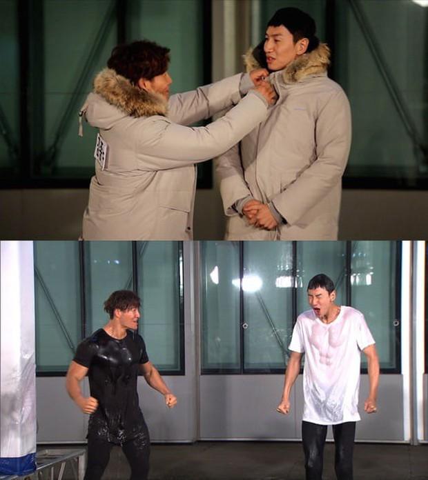 Nhờ bom nước, fan được dịp ngắm nhìn body 6 múi đầy ướt át của Lee Kwang Soo - Ảnh 1.