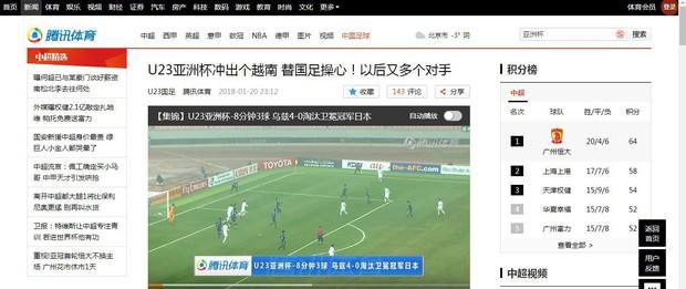 Dòng tin Việt Nam tiến thẳng bán kết xuất hiện đầy tự hào trên trang chủ Fox Sports Asia - Ảnh 2.