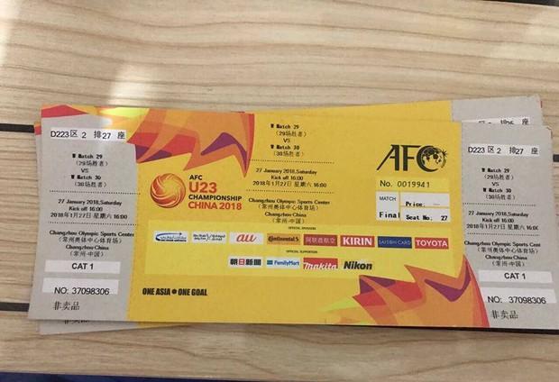 Vé trận chung kết U23 Việt Nam gặp U23 Uzbekistan xuất hiện trên MXH, được rao bán rẻ hơn cả giá gốc - Ảnh 1.