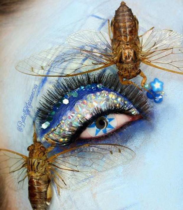 Nhặt nhạnh xác côn trùng, cô gái đã làm nên những tác phẩm make up đỉnh cao - Ảnh 1.