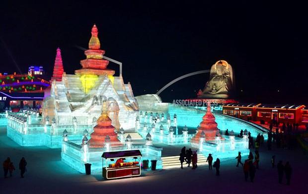 Mãn nhãn trước thế giới thu nhỏ tại Lễ hội Băng đăng quốc tế Harbin - Ảnh 4.