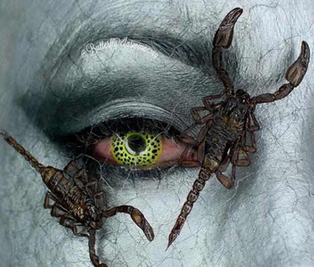 Nhặt nhạnh xác côn trùng, cô gái đã làm nên những tác phẩm make up đỉnh cao - Ảnh 7.