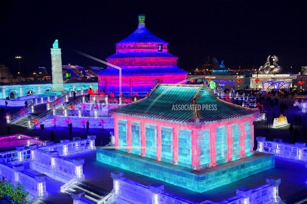 Mãn nhãn trước thế giới thu nhỏ tại Lễ hội Băng đăng quốc tế Harbin - Ảnh 6.
