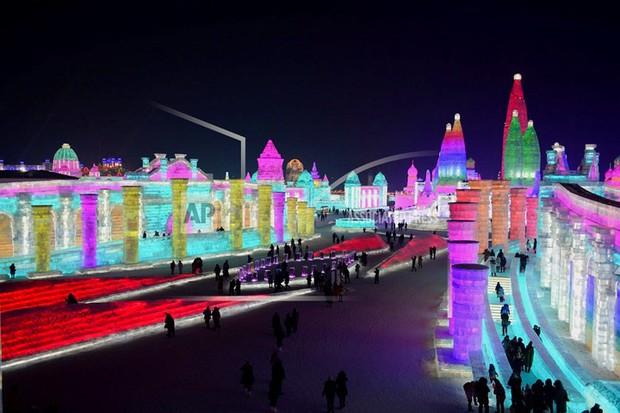 Mãn nhãn trước thế giới thu nhỏ tại Lễ hội Băng đăng quốc tế Harbin - Ảnh 7.
