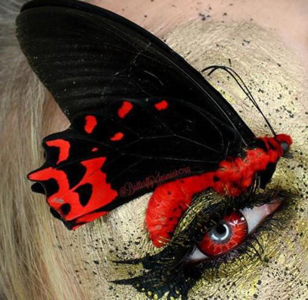 Nhặt nhạnh xác côn trùng, cô gái đã làm nên những tác phẩm make up đỉnh cao - Ảnh 17.