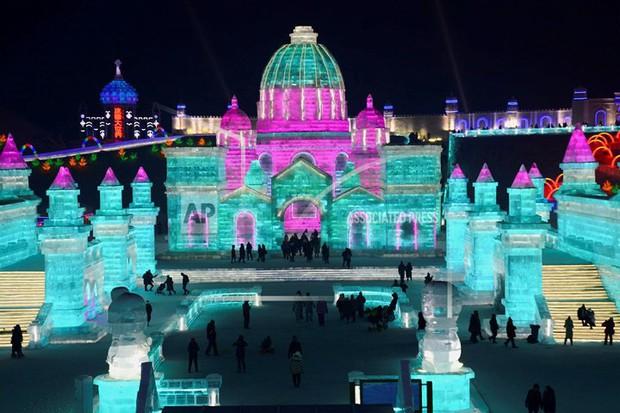 Mãn nhãn trước thế giới thu nhỏ tại Lễ hội Băng đăng quốc tế Harbin - Ảnh 8.