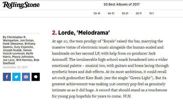 Album của năm tại Grammy 2018? Melodrama – Bản tình ca đẹp lạ thường của một tâm hồn cô độc - Ảnh 9.