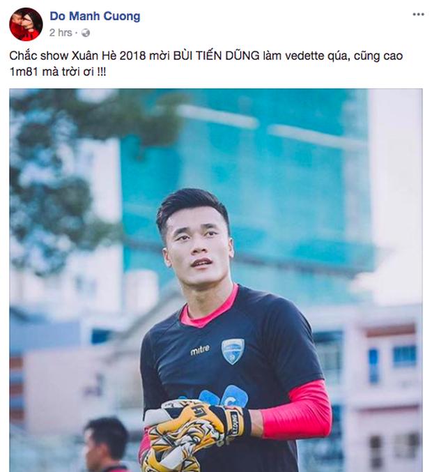 Việt Nam chiến thắng: Đỗ Mạnh Cường muốn Bùi Tiến Dũng làm vedette, Võ Hoàng Yến hứa dạy catwalk cho Quang Hải - Ảnh 1.