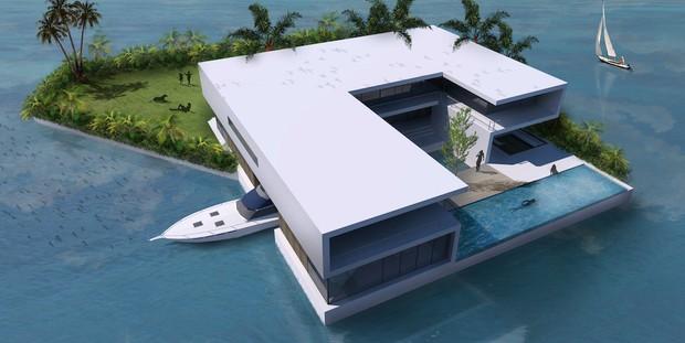 Sắp có siêu biệt thự hơn 500 tỷ VND bằng bê-tông mà nổi được như phao, tha hồ ngắm mây trời biển xanh cả ngày - Ảnh 6.